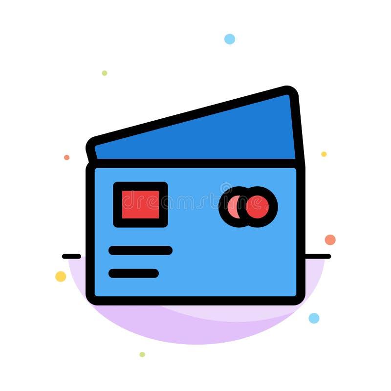 Кредит, дебит, глобальный, оплата, шаблон значка цвета конспекта покупок плоский иллюстрация штока