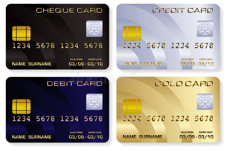 кредит карточек иллюстрация штока