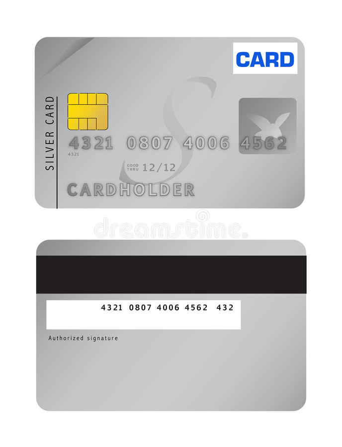 кредит карточки иллюстрация штока