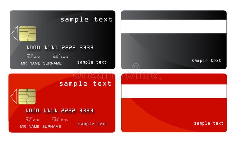 кредит карточки иллюстрация вектора