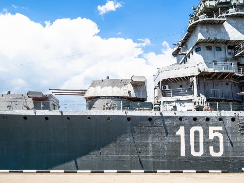 Крейсер Mikhail Kutuzov музея в Novorossiysk стоковые изображения rf