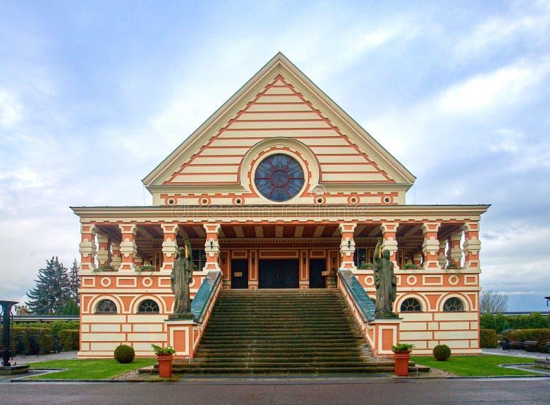 Крематорий в Pardubice стоковое изображение