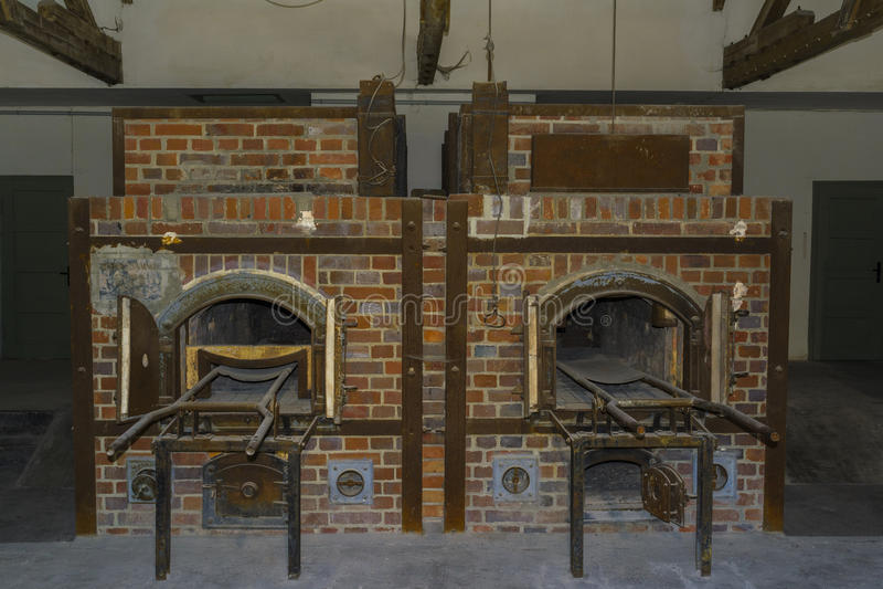 Крематорий печей концентрационного лагеря Dachau стоковые фотографии rf