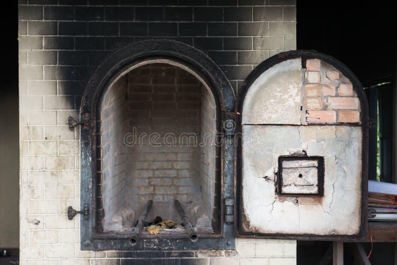 Крематорий печи тайское в виске стоковое изображение