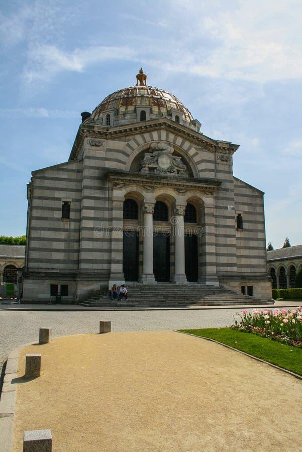 Крематорий Père Lachaise Перемещение вокруг Франции и осмотра достопримечательностей Парижа стоковое изображение rf