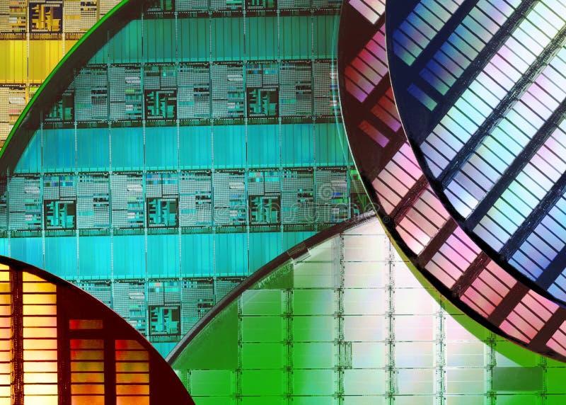 Кремниевые пластины - электроника стоковое изображение