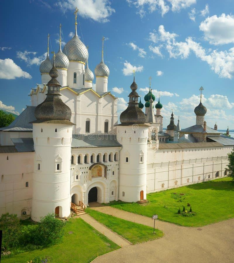 Кремль в Ростове большой кольцо золота Россия стоковое изображение rf