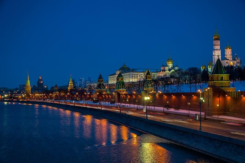 Кремль на ноче стоковая фотография rf