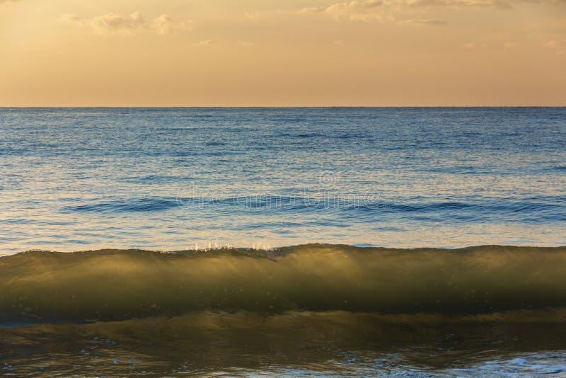 Крены волны моря к берегу стоковое изображение rf