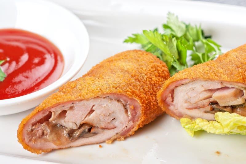 крены свинины мяса стоковое изображение