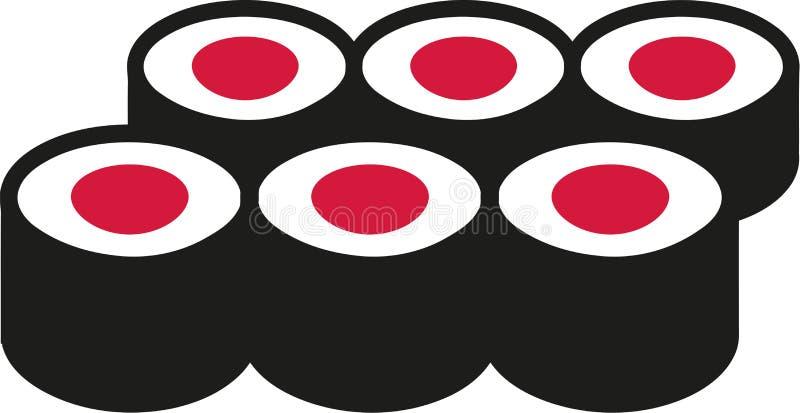крены установили суши бесплатная иллюстрация