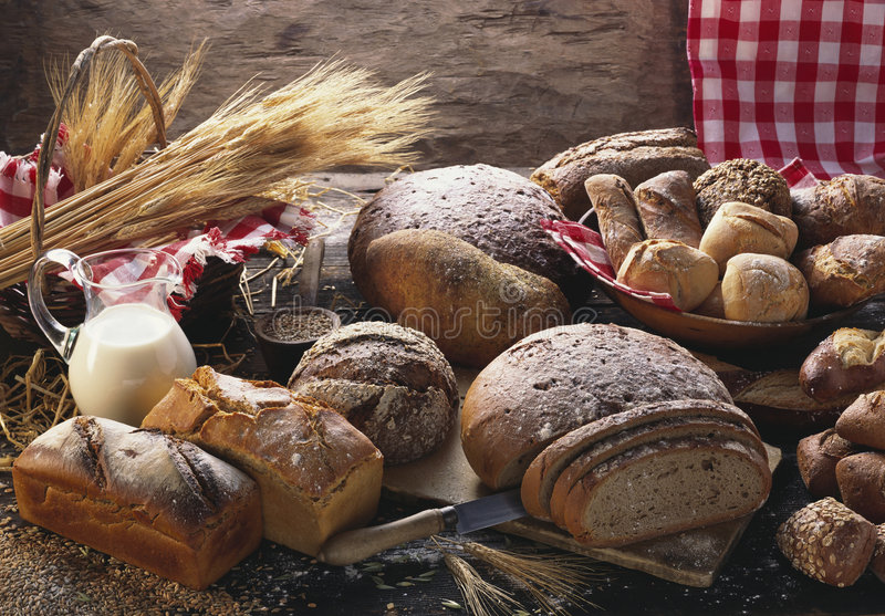 крены хлебов стоковые фото