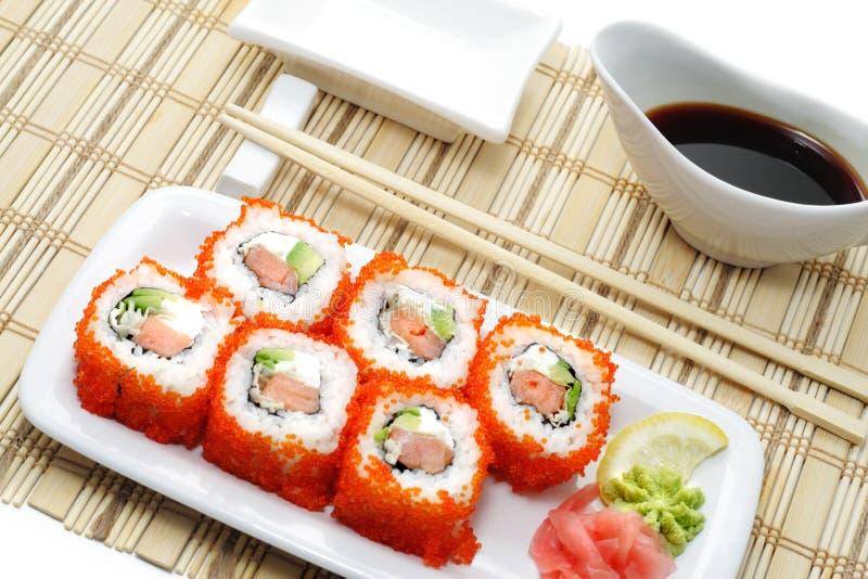 крены японца кухни икры стоковое изображение rf