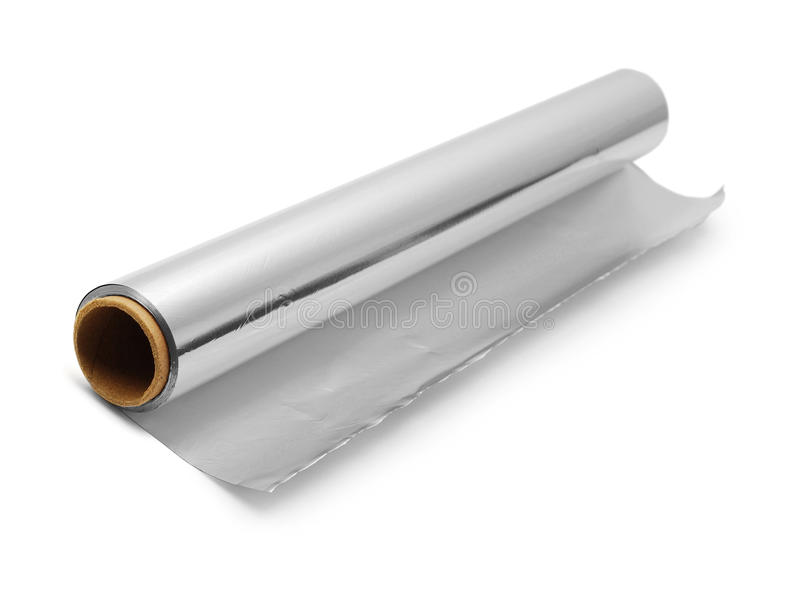 крен алюминиевой фольги стоковое изображение rf
