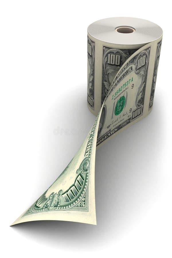 крен доллара иллюстрация вектора