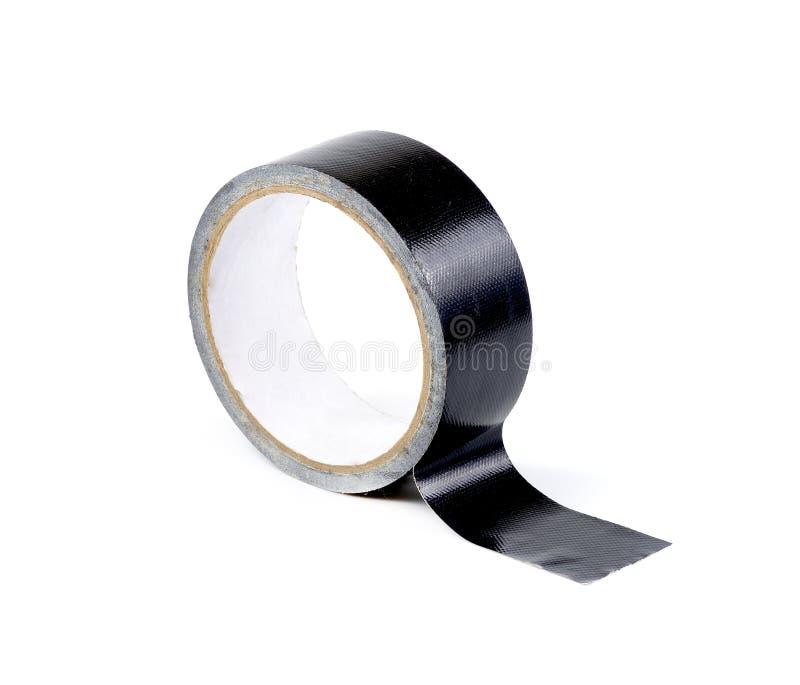 Крен клейкая лента для герметизации трубопроводов отопления и вентиляции изолированный на белой предпосылке стоковая фотография rf