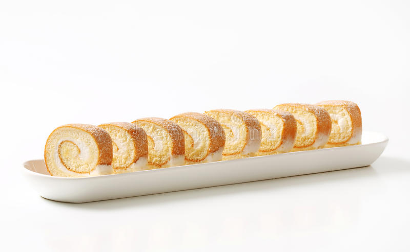Крен плавленого сыра швейцарский стоковое изображение rf