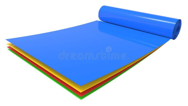 Крен различных листов пластмассы цвета бесплатная иллюстрация