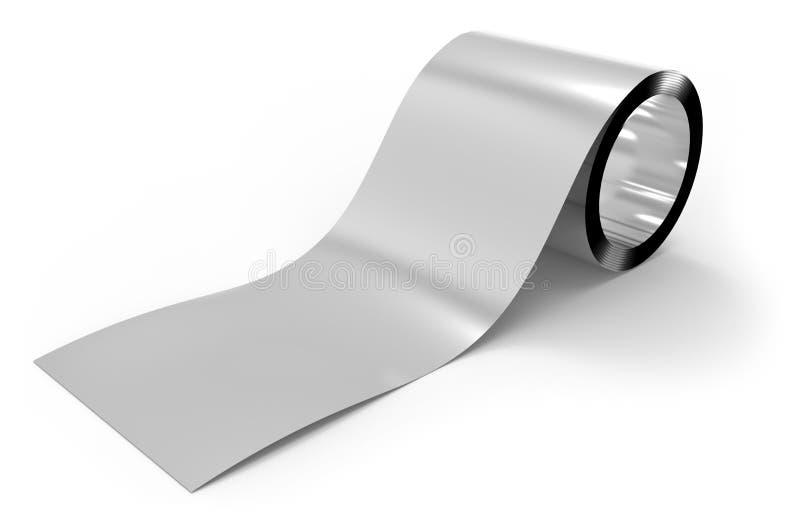 Крен фольги металла иллюстрация штока