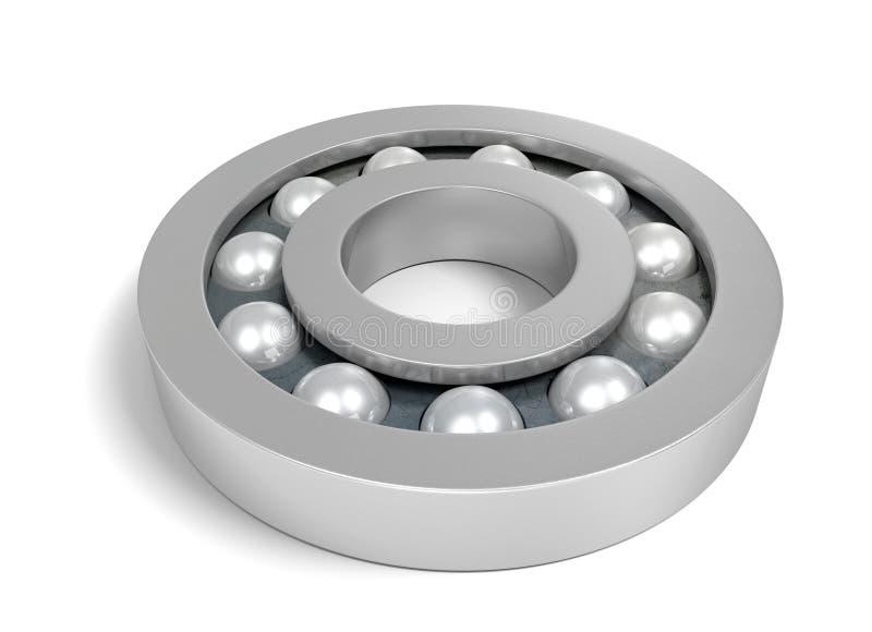Крепкий металлический шар нося над белой предпосылкой бесплатная иллюстрация