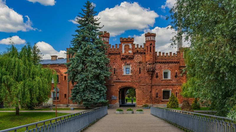 Крепость Бреста, Беларусь стоковые изображения rf
