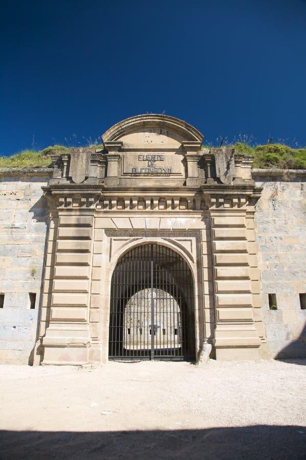 Крепость входа pamplona стоковые фото