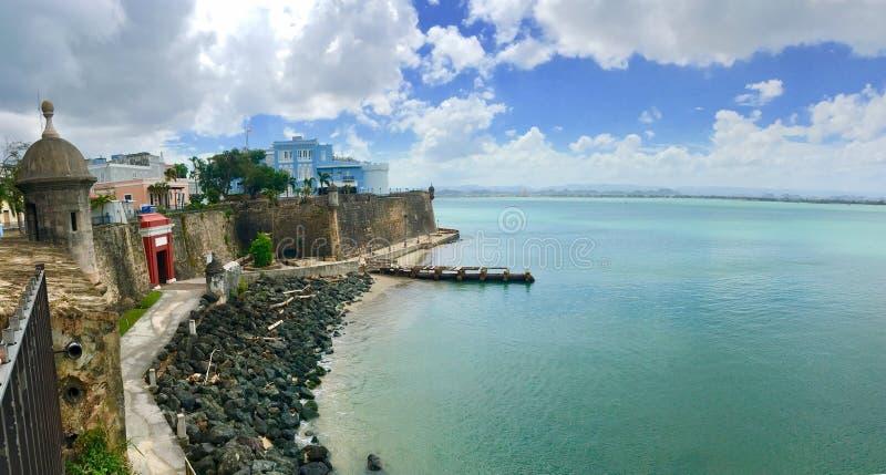 Крепость в Сан-Хуане, Пуэрто-Рико стоковые фотографии rf