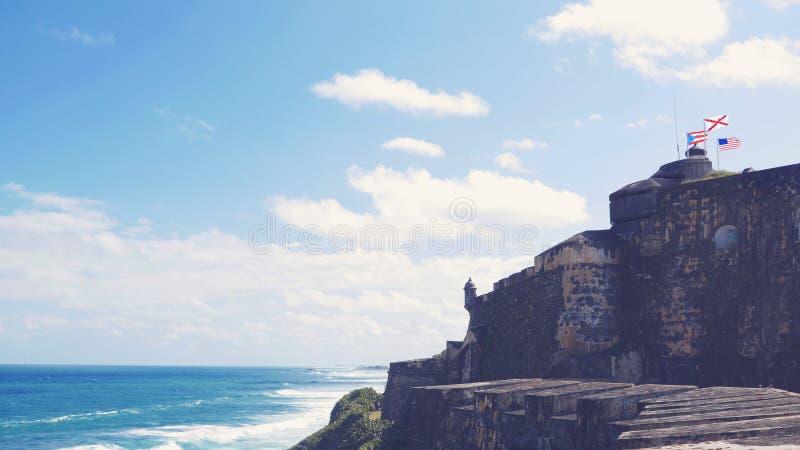 Крепость в Сан-Хуане Пуэрто-Рико стоковое фото