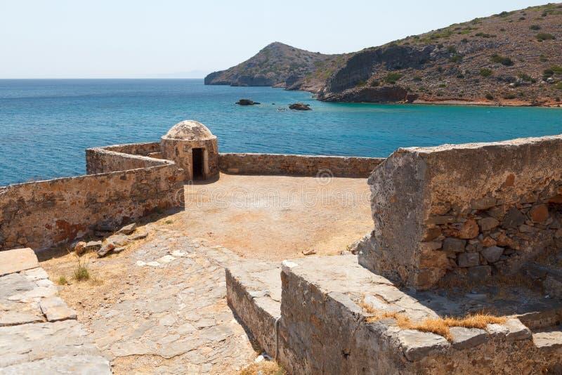 Крепость Греция Крита Spinalonga стоковые изображения rf