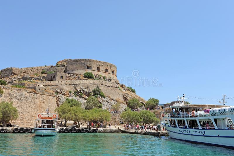 Крепость Греция Крита Spinalonga стоковая фотография rf