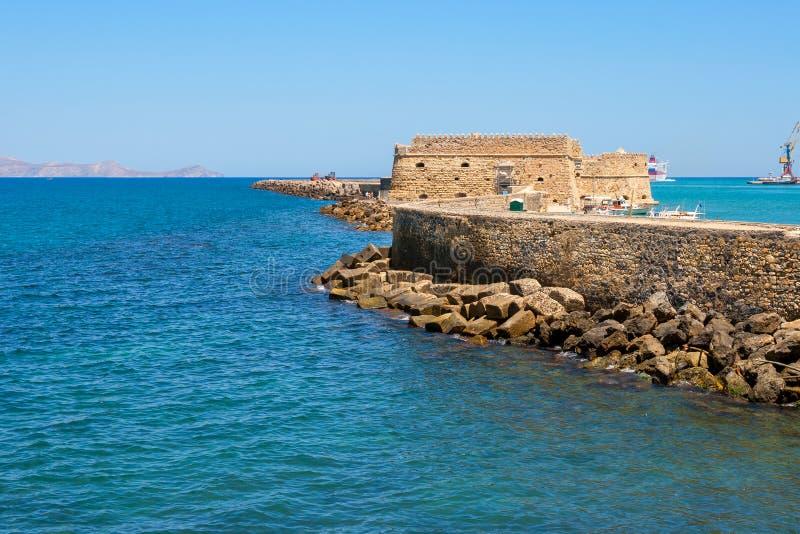 Крепость ираклиона. Крит, Греция стоковое фото