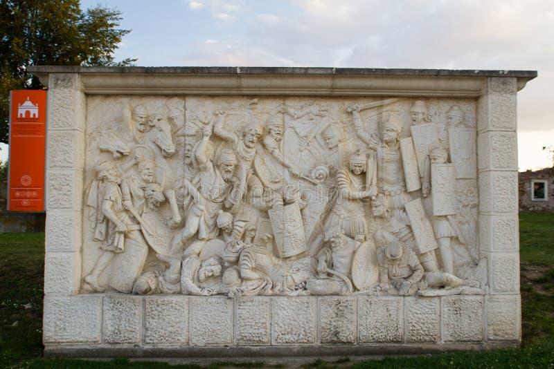 Крепость Каролины настенной росписи Alba стоковые изображения rf
