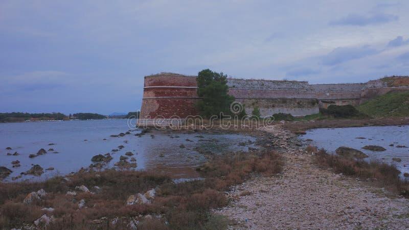 Крепость на море стоковое фото rf