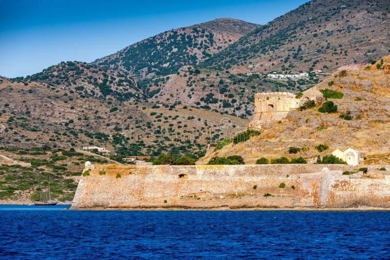Крепость острова Spinalonga, Крита, Греции стоковое фото