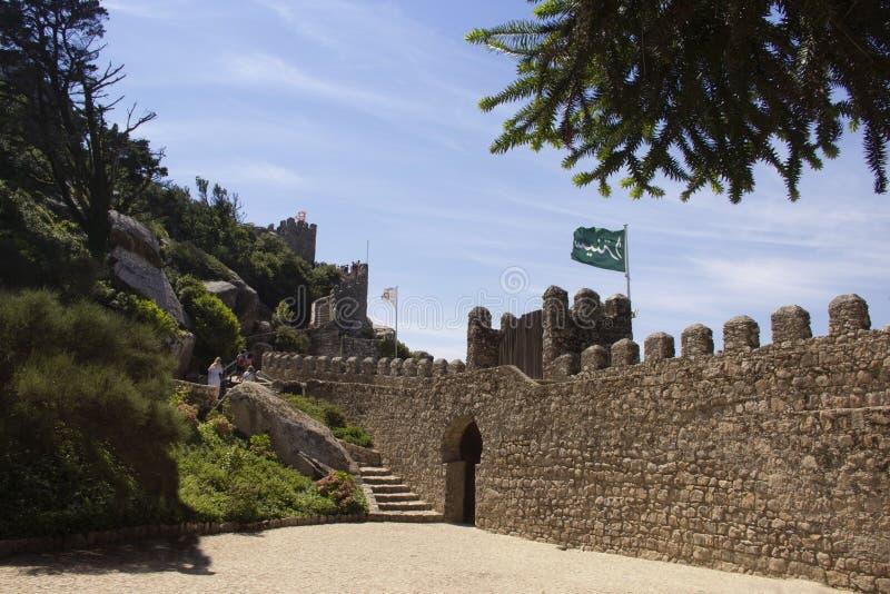 Крепость причаливает в Sintra r стоковые фотографии rf