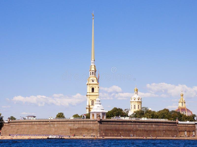 Крепость России, Санкт-Петербурга, Питера и Пола стоковые изображения rf