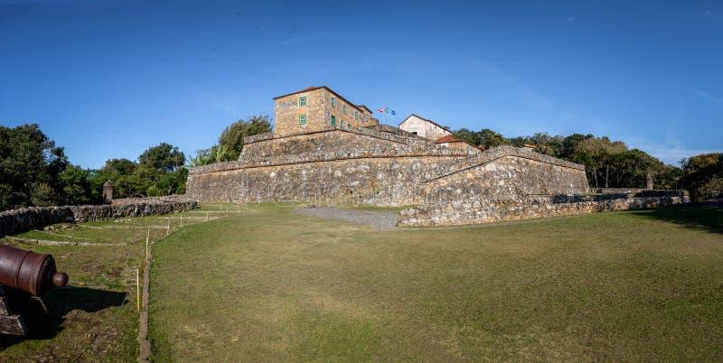 Крепость Хосе da Ponta Grossa Sao - Florianopolis, Санта-Катарина, Бразилия стоковые изображения rf