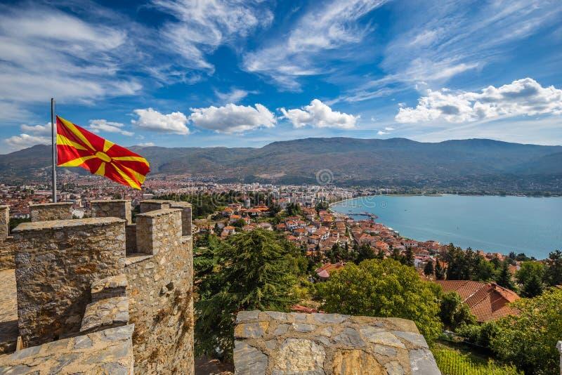 Крепость Царя Самуэля - Охриде, Македония стоковые изображения rf