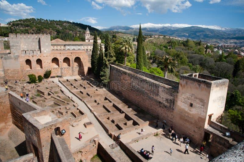 крепость alhambra стоковые изображения rf
