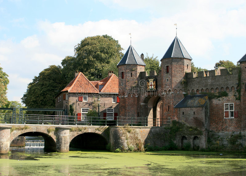 крепость amersfoort стоковое изображение