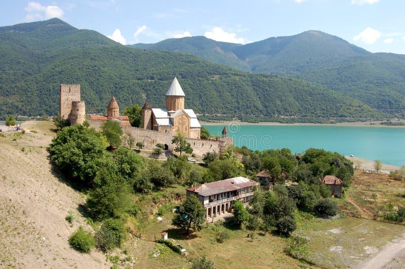 крепость ananuri стоковая фотография