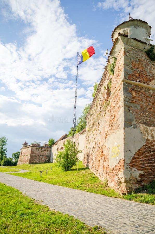 Крепость Brasov средневековая стоковые фотографии rf