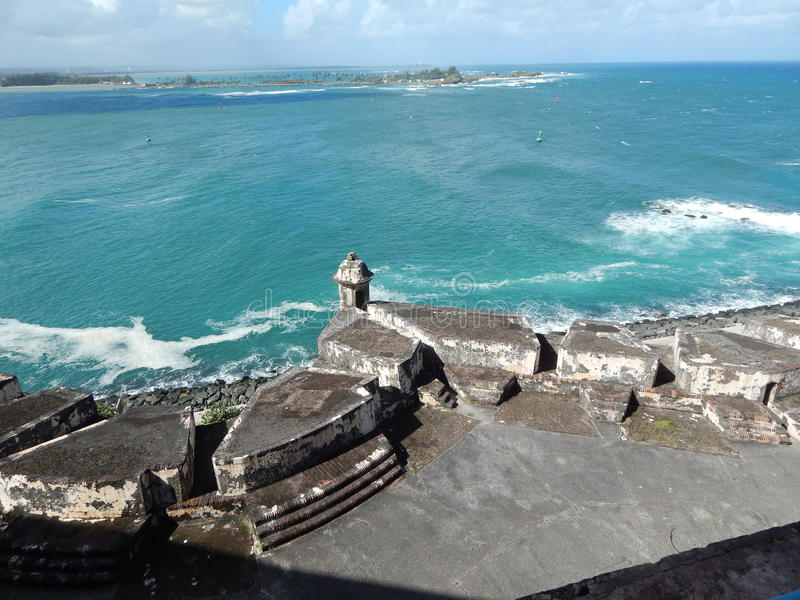 Крепость/Castillo de Сан Cristobel в Сан-Хуане, Пуэрто-Рико стоковое изображение rf