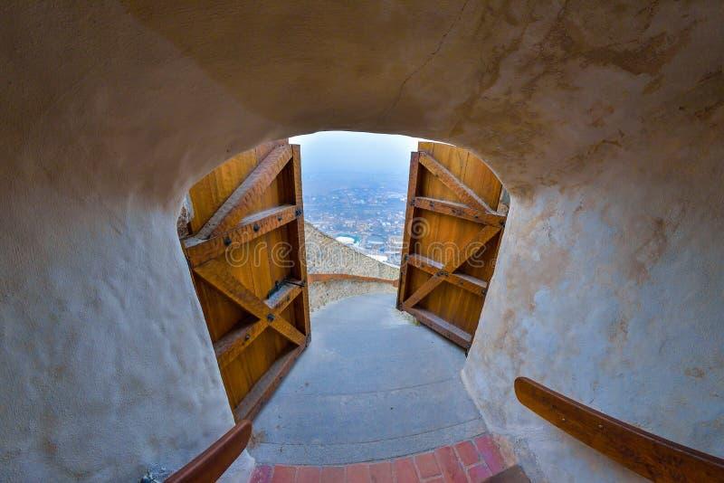 Крепость Deva, Румынии стоковые изображения rf