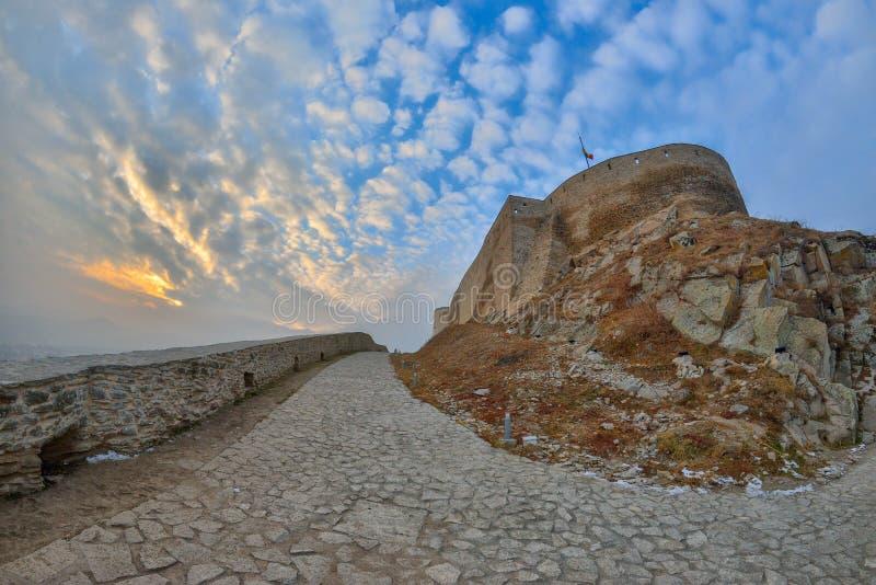 Крепость Deva, Румынии стоковое изображение rf