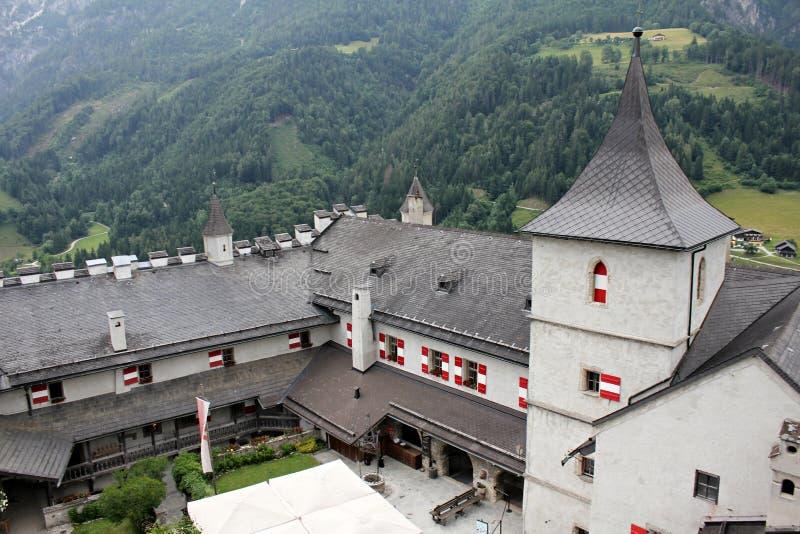 Крепость Hohenwerfen стоковое фото rf