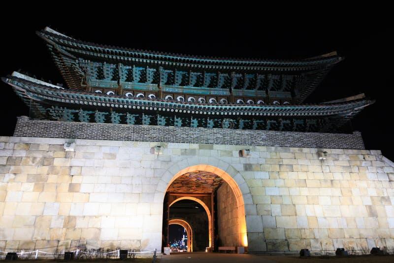Крепость Hwaseong в Сувоне стоковое фото rf