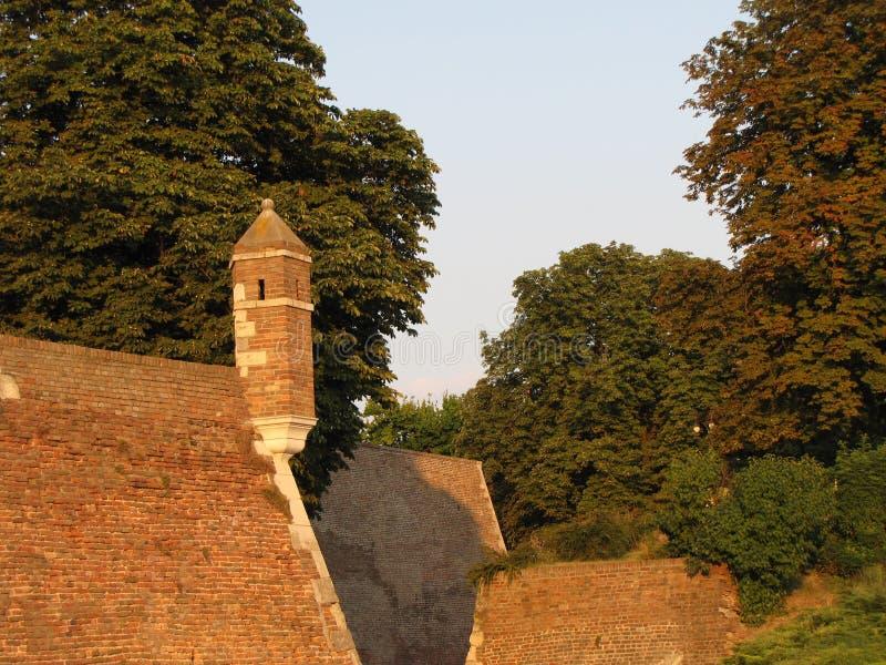 Крепость Kalemegdan в Белграде в лете стоковые изображения rf