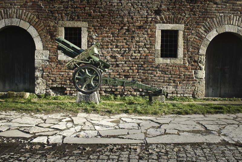 Крепость Kalemegdan в Белграде и музее оружий стоковое изображение