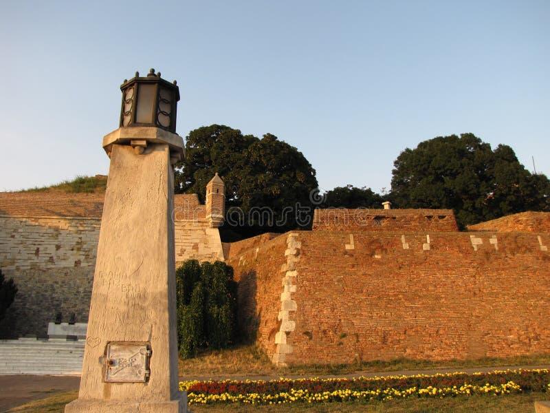 Крепость Kalemegdan в Белграде на лете стоковые изображения rf